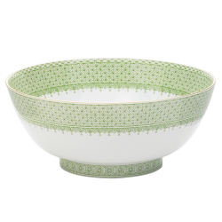 Mottahedeh apple green lace round bowl