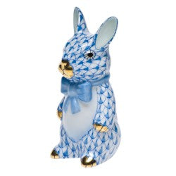 Herend bunny with bowtie blue