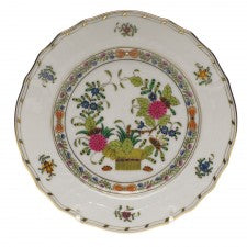 Herend indian basket bread and butter plate