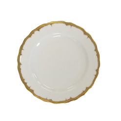 Mottahedeh Chelsea Feather Gold Bread & Butter Plate