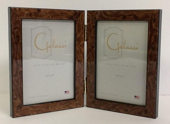 Fine Italian Wood Frame Brown Burl Double 3.5