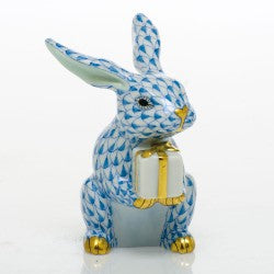 Herend celebration bunny blue