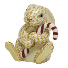 Herend candy cane bunny butterscutch