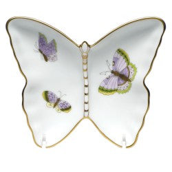 Herend royal garden butterfly pin dish