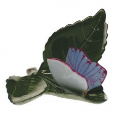 Herend butterfly on leaf blue