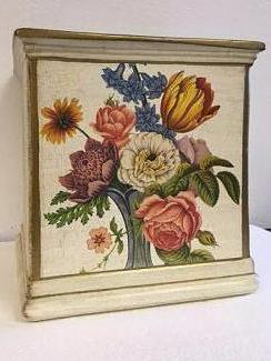 Italian Hand Painted Cache Pot With Flowers