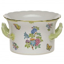 Herend queen victoria cachepot with handles
