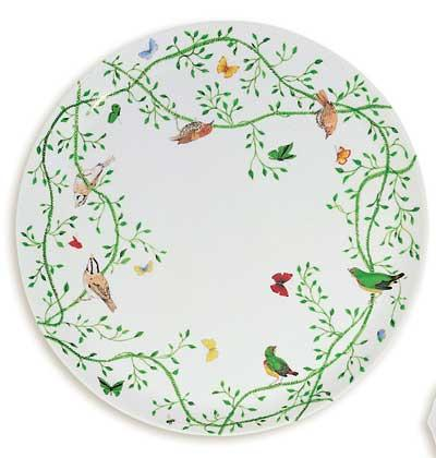 Raynaud Wing Song Flat Cake Plate