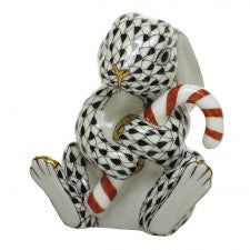 Herend candy cane bunny black