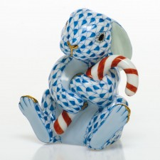Herend candy cane bunny blue