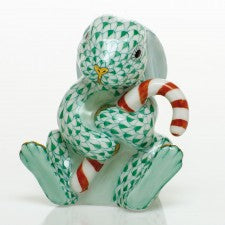 Herend candy cane bunny green