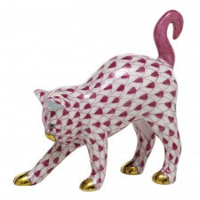 Herend arched cat pink