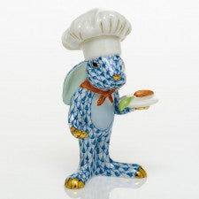 Herend chef bunny blue
