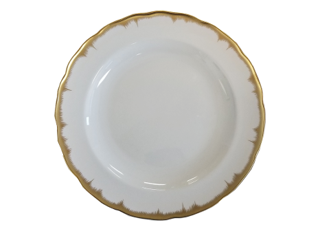 Mottahedeh Chelsea Feather Gold Dinner Plate