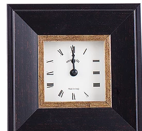 Italian wood desk clock