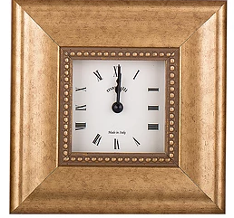Italian wood clock gold