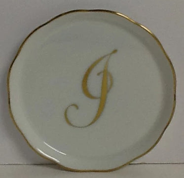 Herend China Coaster With Monogram