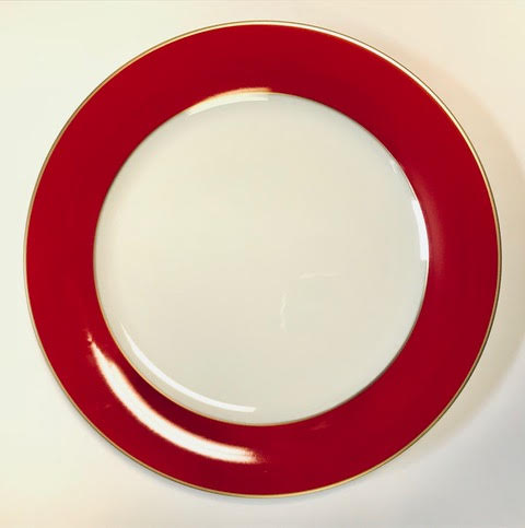 Pickard  dinner plate color sheen red & gold