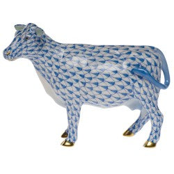 Herend cow blue