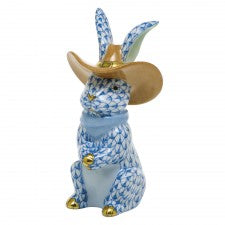 Herend Cowboy Bunny Blue