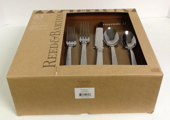 Reed And Barton Stainless Crescendo 65-piece set Service For 12