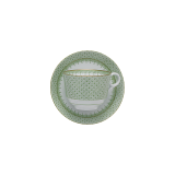 Mottahedeh apple green lace cup & saucer