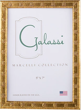 Delicieux Italian Wood Thin Gold Daisy Frame 5 X 7