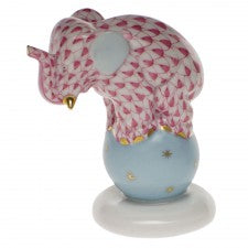 Herend dancing elephant raspberry