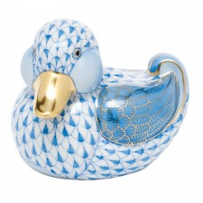 Herend dapper ducky blue