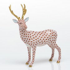Herend Figurines Deer Rust