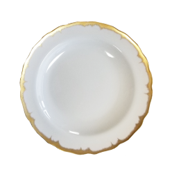 Mottahedeh Chelsea Feather Gold Dessert Plate