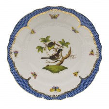 Herend rothschild bird blue border dinner plate - motif 01
