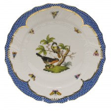 Herend rothscild bird blue border dinner plate - motif 02