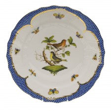 Herend rothschild bird blue border dinner plate - motif 03