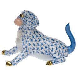 Herend labrador with ball blue