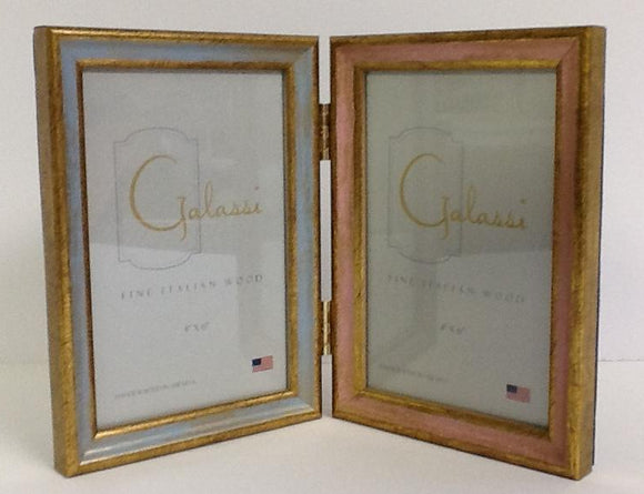 Fine Italian Wood Picture Frame Double