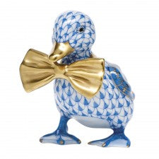 Herend dashing duckling blue
