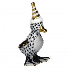 Herend party duckling black