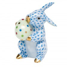 Herend easter bunny blue