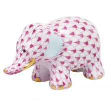Herend little elephant raspberry