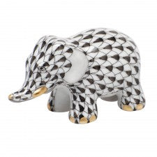 Herend little elephant black