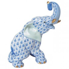 Herend elephant blue