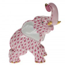 Herend elephant raspberry