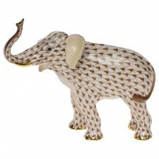 Herend elephant luck brown