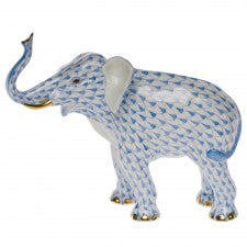 Herend elephant luck blue