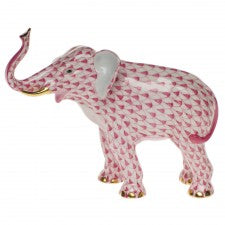 Herend elephant luck raspberry