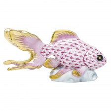 Herend fantail goldfish raspberry