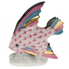 Herend fish table ornament pink