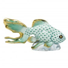 Herend fantail goldfish green