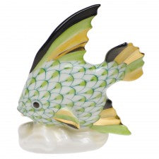 Herend fish table ornament lime green